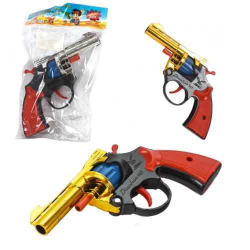 Пистолет под пистоны A2 (432шт/2) 3 цвета, в пакет, A2