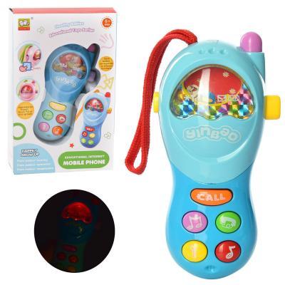 Телефон 838-2 (72шт) 14см, на шнурке,муз, зв, св