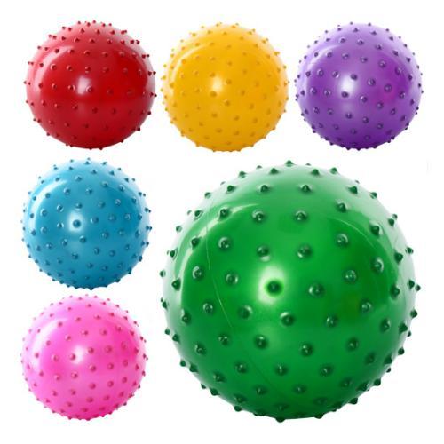 Мяч массажный 5 дюймов, ПВХ, 30г, 6 цветов, MS 0663