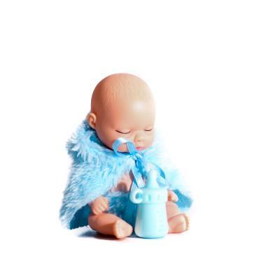 Пупс 11см, шар 9,5см, бутылочка, 24шт(4вида) в дис