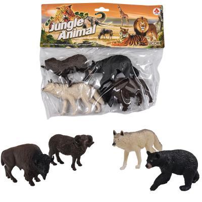 Животные 2A246-247 (84шт) дикие, 4шт, от 11см, 2 в