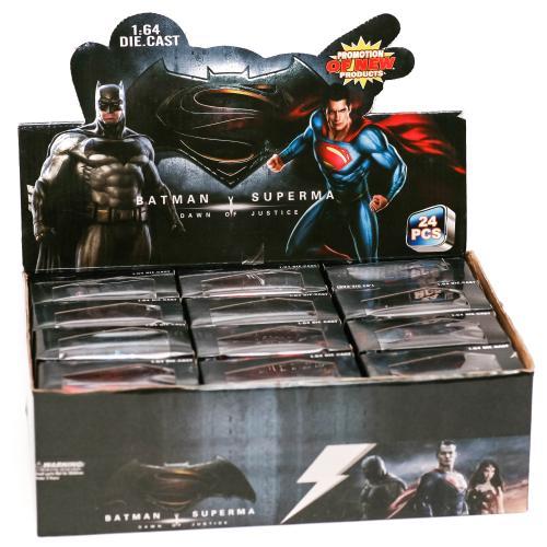 "Набір машин ""BATMAN vs SUPERMAN"" метал (коробка 24, 3136-24"