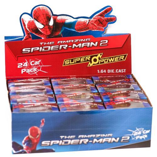 "Набір машин метал-пластик ""Spiderman"" (коробка 24, 5136-24"