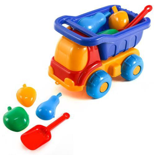 Детский набор: машинка, лопатка, три пасочки, CP 0022