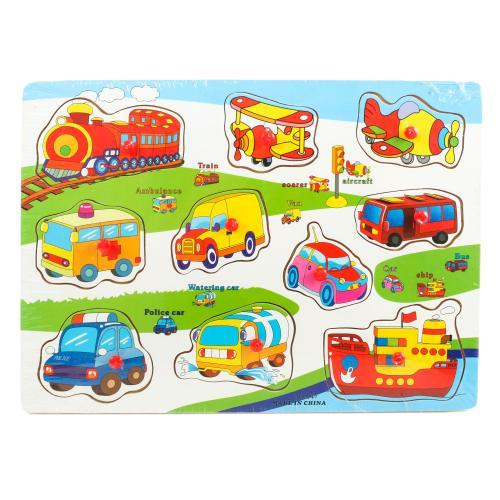 """Деревянная игрушка """" Изучаем транспорт"""", DX541"""