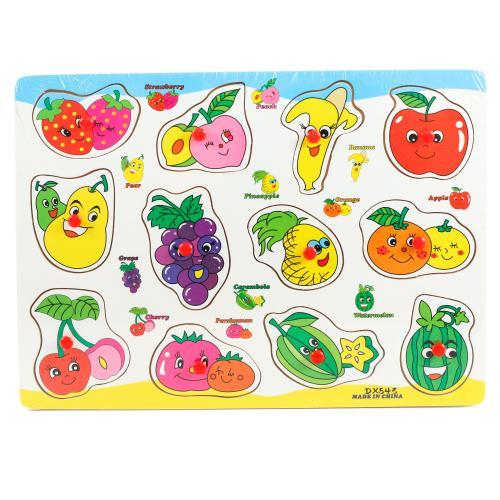 """Деревянная игрушка """" Изучаем фрукты"""", DX543"""