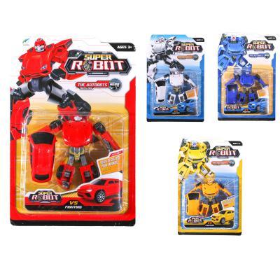 Трансформер 668-12 (96шт) 11см, робот+машинка, 4 в