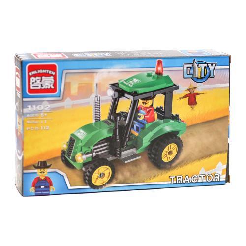 Конструктор BRICK 1102 (70шт) трактор, 112 деталей, BRICK 1102