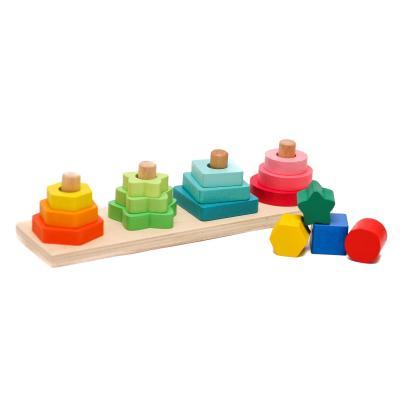 Деревянная игрушка Геометрика MD 1216 (70шт) 27см