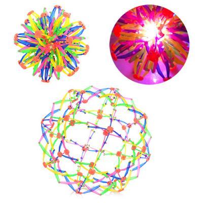 Мяч M 5391 (144шт) трансформер, свет, в кульке, 15