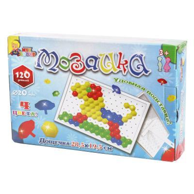 """Мозаика """" Гвоздик"""" (120 дет.),в коробке"""