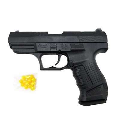 Пистолет на пульках, 14см, пульки, в кульке, 14-1