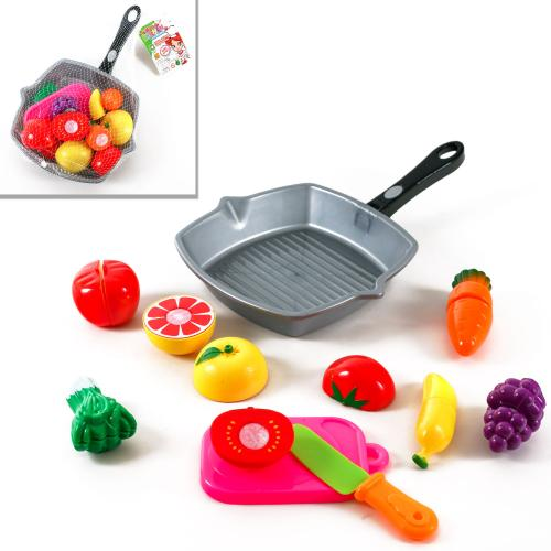 Продукты на липучке, сковородка, нож, досточка, 2в, 3016C