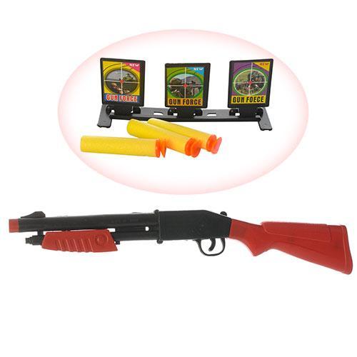 Ружье 44cм, мягкие-пули присоски 3шт, мишень, в к, HS328-4