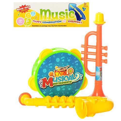 Музыкальные инструменты 33-22 (300шт) бубен, дудка, 33-22