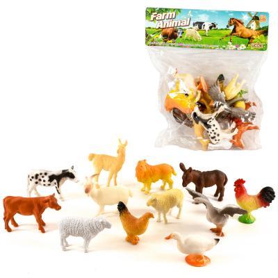 Животные домашние, 12шт, от 5см, в кульке, 21-23-6
