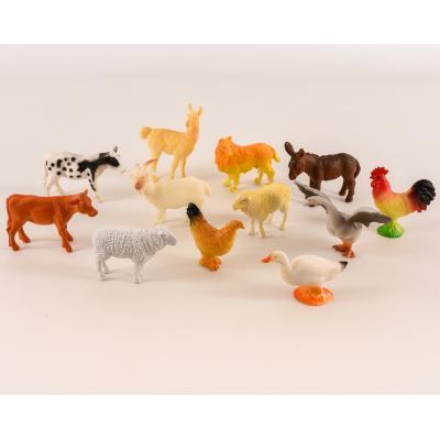 Животные домашние, 12шт, от 5см, в кульке, 21-23-6, A012