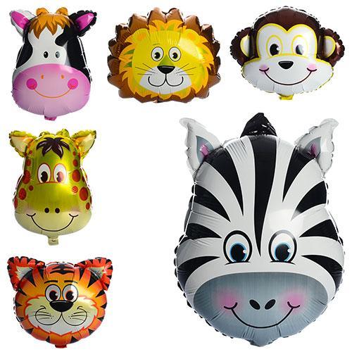 Шарики надувные фольгированные животные, 60-45см, MK 1332