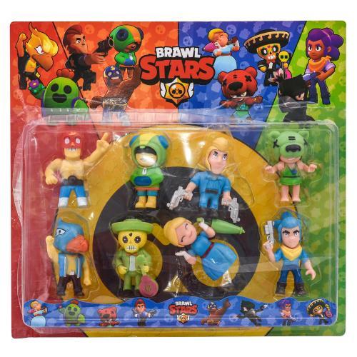 Фигурки героев BRAWL STARS, 8 шт на планшете, LY1556