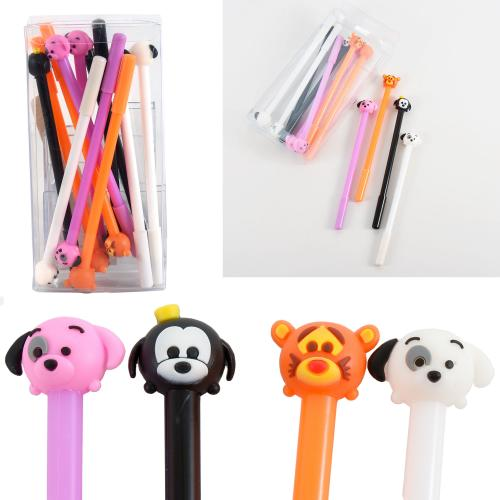 "Ручка ""Щенята"", шариковая, синяя, 12 шт. (цена за упаковку), HMZ-6012"