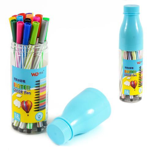 Фломастеры в Пенале-Бутылке, 18 цветов, HMZ-8317