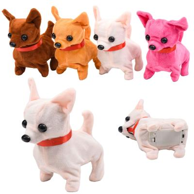 Собака мягкая, размер средний 15см, 6цветов, звук
