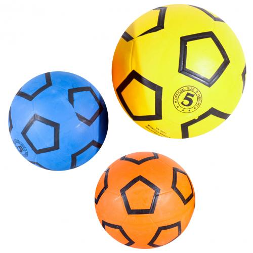 Мяч футбольный размер 5, резина, 350г, 3 цвета, VA 0037