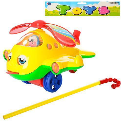 Каталка на палке40см,вертолет20см,звук,вр,винт,зак, 0322-3