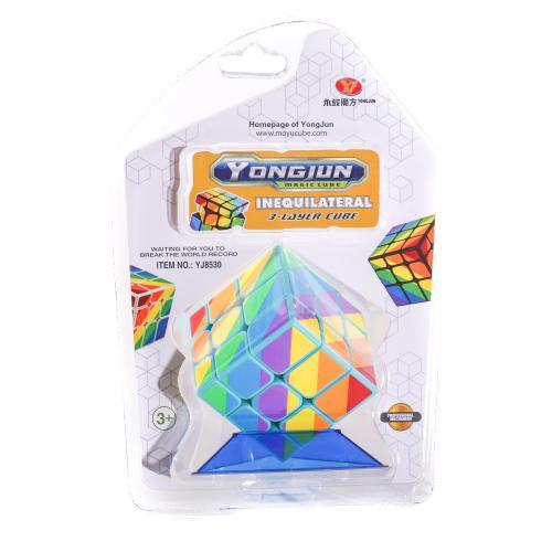Кубик YJ8530 (60шт) 3х3, 5,5-5,5-5,5см, в слюде, 1, YJ8530