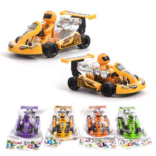 Машинка 0389D (400шт) инер-я, гоночная 8,5см, 4 цв, 0389D