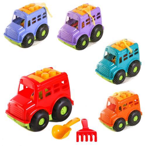Детский набор:автобус,лопатка,грабли, CP 0084