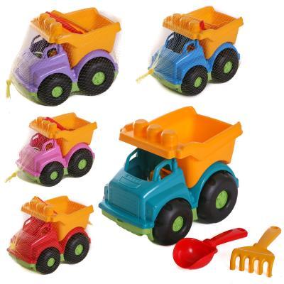 Детский набор : автобус, лопатка, грабли