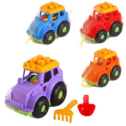 Детский набор:автобус,лопатка,грабли, CP 0206