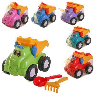 Детский набор : машинка, лопатка, грабли