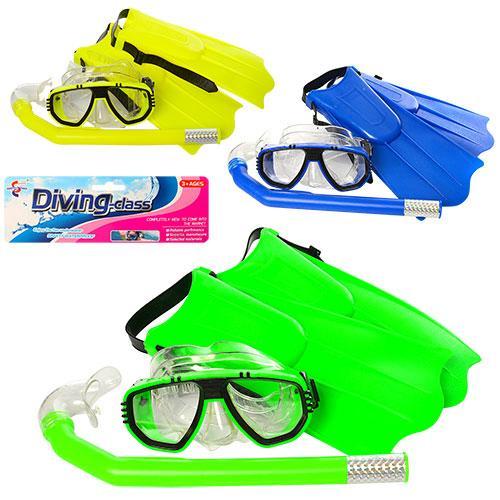 Набор для плавания маска 17см, трубка35см, ласты 3, 65103