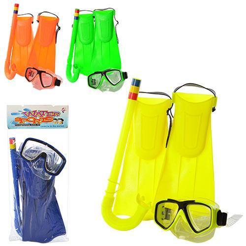 Набор для плавания маска15-11-6см,ласты31-16,трубк, M 0015 U-R-65083-65093