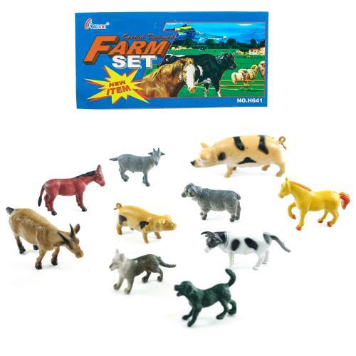 Животные Н 641-1-3 (192шт) домашние, 3 вида, 10шт, Н 641-1-3