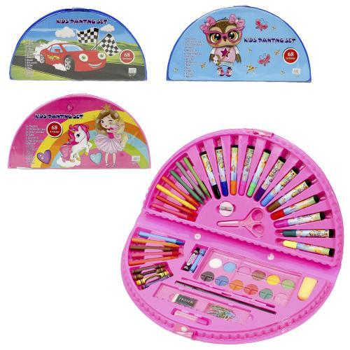 Набор для творчества, 68 предметов (краски, карандаши, фломастеры) (цена за упаковку), MK 3918-2