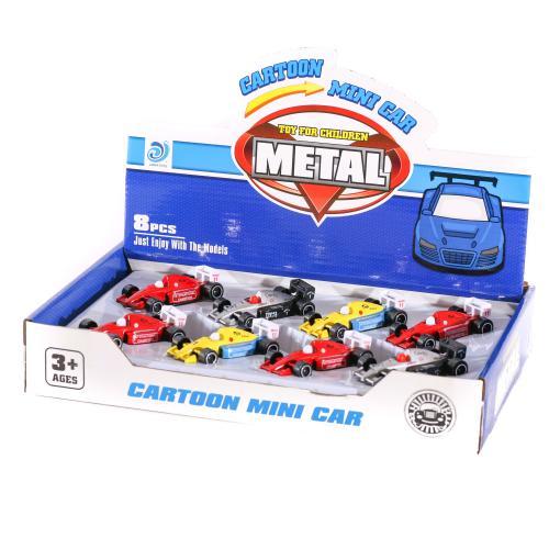 Машинка 9900-29 (288шт) металл, 7,5см, 8шт(4цвета), 9900-29