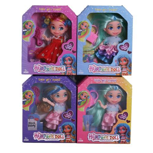 Кукла 4вида,шарнирная,с ассесуар,в кор 15*5*9см, ZQ40401-A