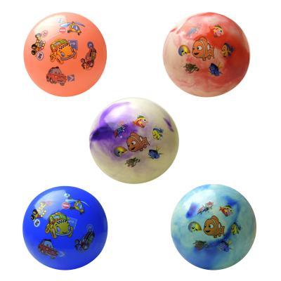 """Мяч резиновый""""Рыбки""""3вида,35см 180гр, CL12-014"""