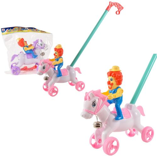 "Каталка ""Клоун на лошадке"", 8515-6"