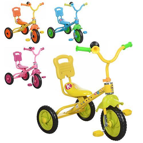 Велосипед 3 колеса, голубой, розовый, желтый (один, M 1190