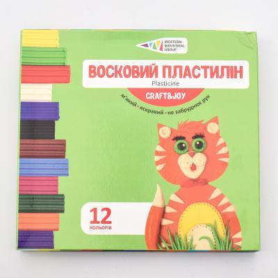Пластилин, 12 цветов (цена за упаковку), GA-331017-Cr