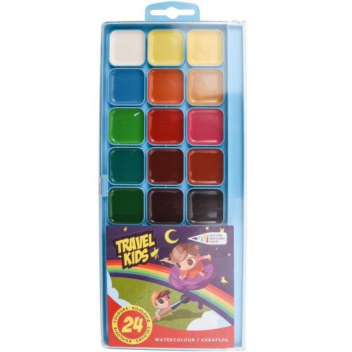 Акварель Travel Kids, 24 цвета (цена за упаковку), GA-312082-TK