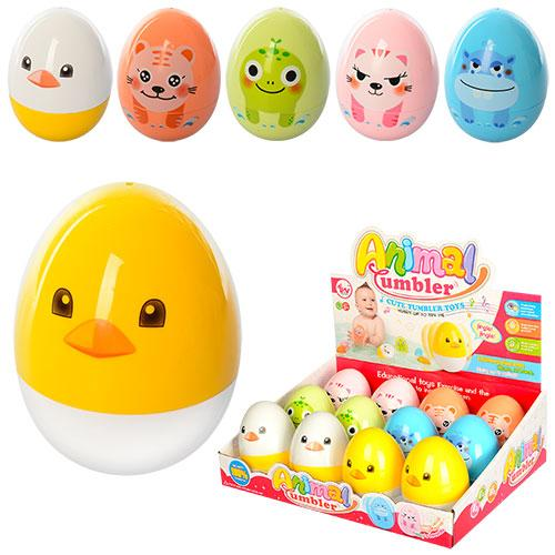 Неваляшка яйцо, 9,5см, звук, 12шт(6видов) в диспл, 5006-C