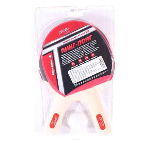 Ракетка MS 0215 (50шт) номер1, 2шт, EVA, ручка дер, MS 0215