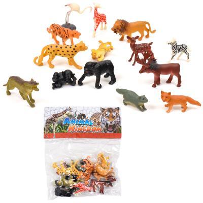 Животные 9618-32 (84шт) дикие, 12шт, от 4см, в кул