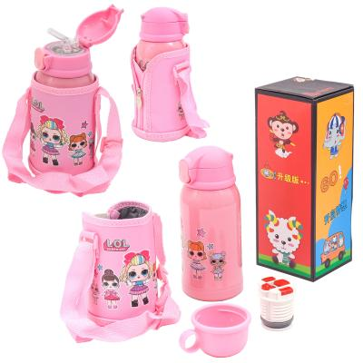 Детский термос - поилка, в сумке,с чашечкой