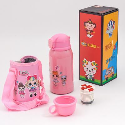 Детский термос-поилка, в сумке, MM 001140